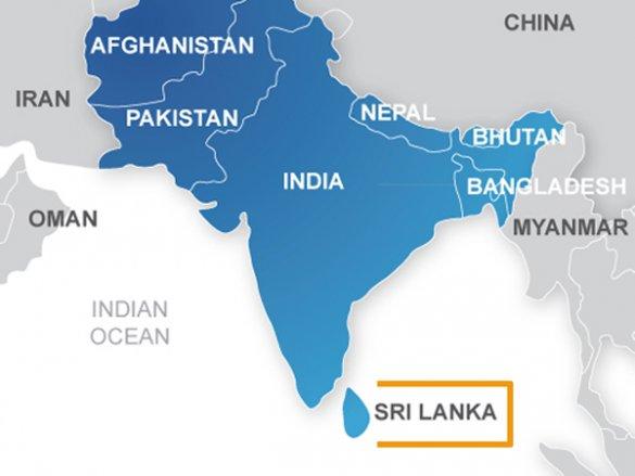 Шри-Ланка на карте мира: где находится Шри-Ланка, координаты, площадь